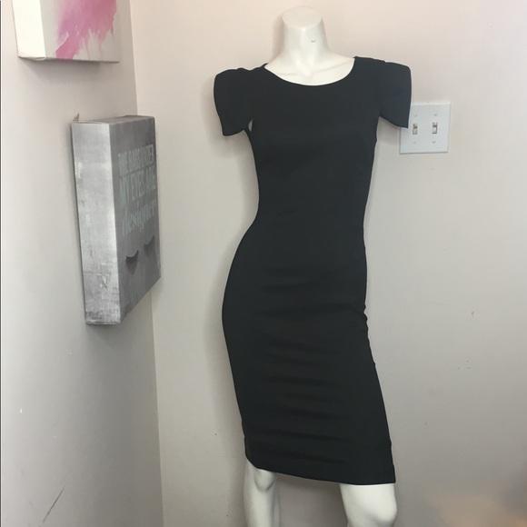 French Connection Dresses Black Cap Sleeve Dress Poshmark